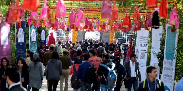 Jaipur Literature Festival.(Photo by Purushottam Diwakar/India Today Group/Getty Images)