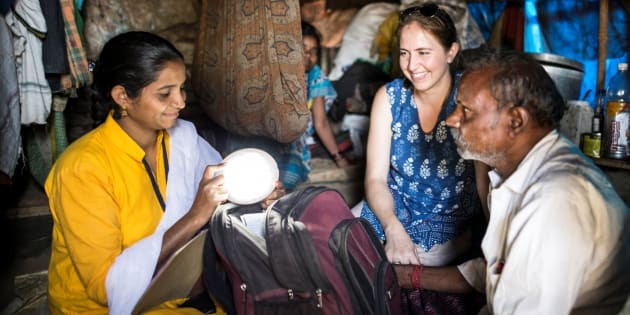 Pollinate Energy Co-founder Emma Colenbrander says poor Indian families' lives are improved with solar lighting.