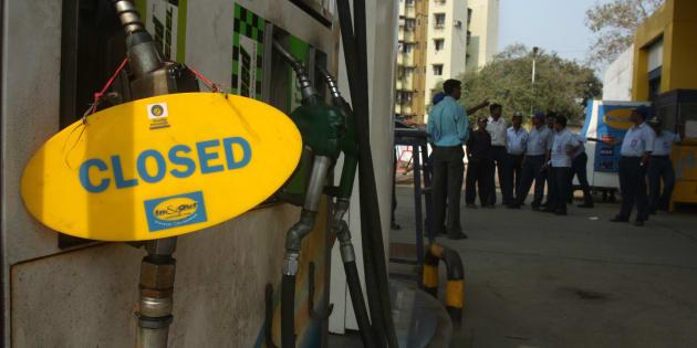Petrol Pump near Mira Bhayander Road was closed because of petrol strike in Mumbai.