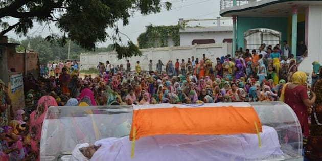 Body of murder-accused Ravi kept in a glass freezer in Dadri.