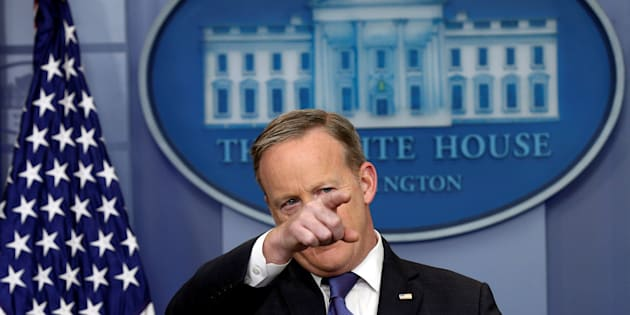 White House spokesman Sean Spicer holds a briefing at the White House  in Washington, U.S., March 13, 2017. REUTERS/Kevin Lamarque