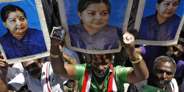 Supporters of J. Jayalalithaa. REUTERS/Babu