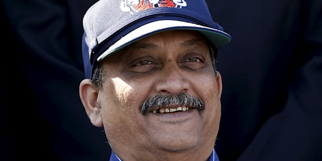 India's Defence Minister Manohar Parrikar. March 31, 2015.