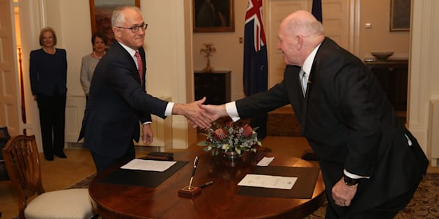 Malcolm Turnbull is sworn in as Prime Minister by the Governor-General Sir Peter Cosgrove