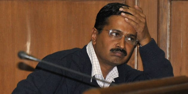 Delhi's Chief Minister Arvind Kejriwal, chief of the Aam Aadmi (Common Man) Party (AAP) attends a session at the Delhi assembly in New Delhi February 14, 2014. REUTERS/Stringer