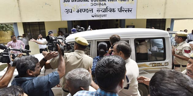 Ryan International School student murder accused Ashok Kumar sent tot Jail, to be produced before a special court, on September 12, 2017 in Gurgaon.