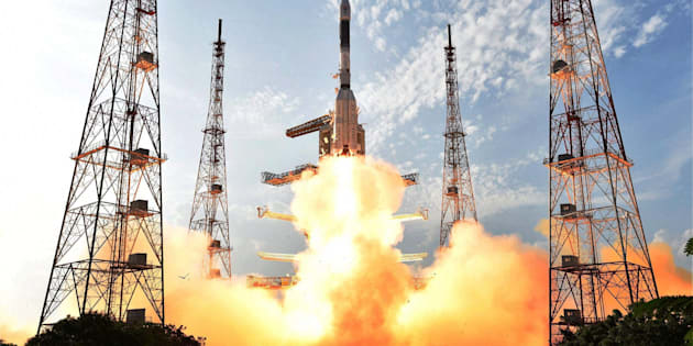 ISRO's GSLV-F05 carrying INSAT-3DR takes off from Satish Dhawan Space Centre in  Sriharikota on Thursday.
