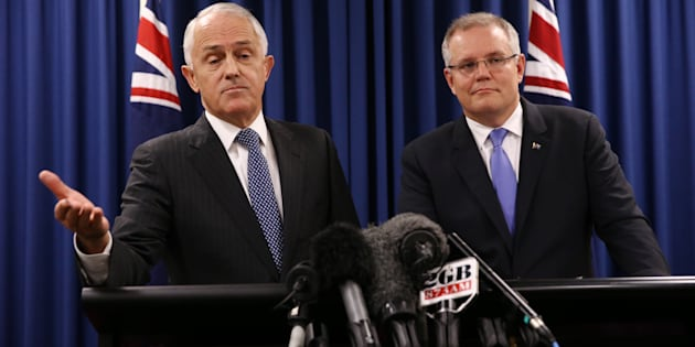 Prime Minister Malcolm Turnbull and Treasurer Scott Morrison during a press conference in Brisbane on Wednesday 1 June 2016