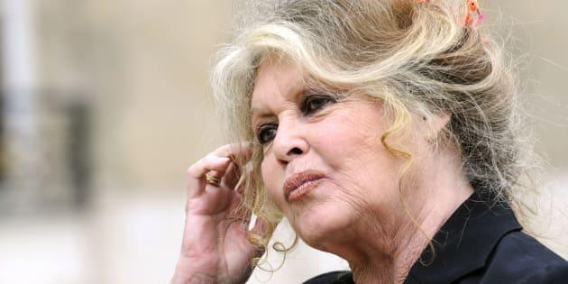 Brigitte Bardot à l'Elysée le 27 septembre 2007.