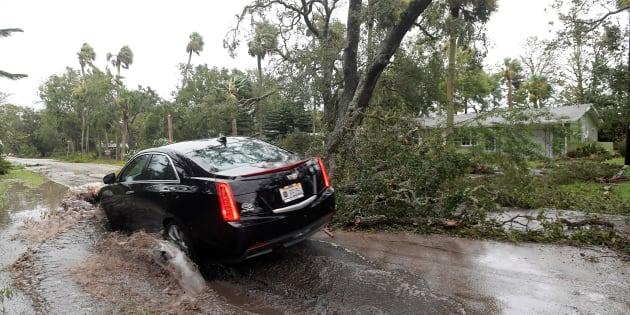 Après le passage de l'ouragan Matthew en Floride le 7 octobre 2016