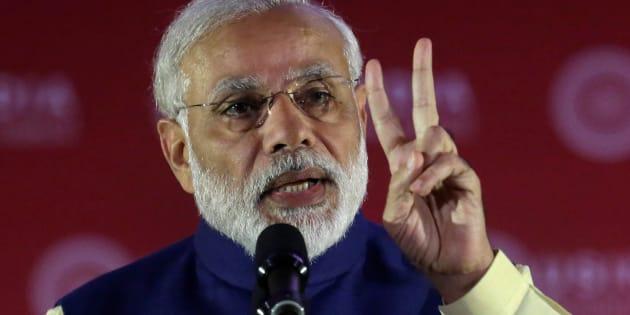 India's Prime Minister Narendra Modi speaks at the U.S.-India Business Council (USIBC) 41st annual Leadership Summit in Washington, U.S., June 7, 2016. REUTERS/Yuri Gripas