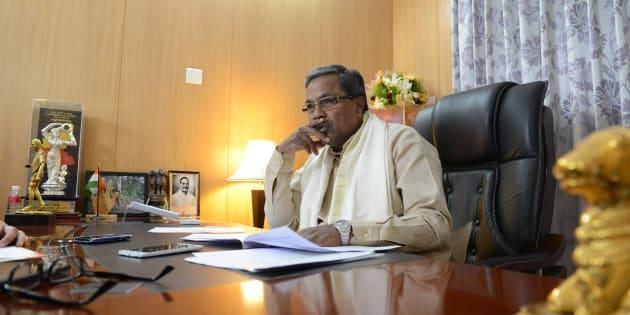 Karnataka Chief Minister K Siddaramaiah on September 18, 2015 in Bengaluru, India. (Photo by Hemant Mishra/Mint via Getty Images)