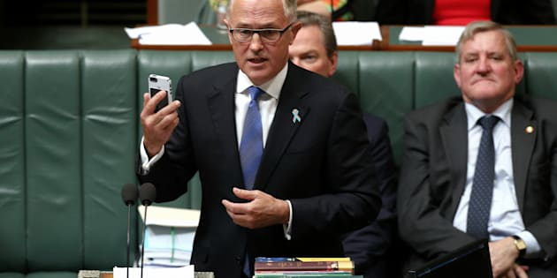 Malcolm Turnbull didn't hold the phone when his commitments to mental health were questioned.