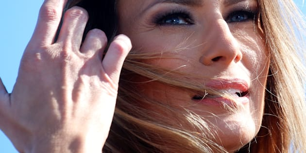 Republican presidential nominee Donald Trump's wife Melania Trump is pictured at a campaign rally in Wilmington, North Carolina Florida, U.S. November 5,  2016.