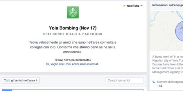 Safety check di facebook attivato in nigeria dopo un - Cheque caution non rendu ...
