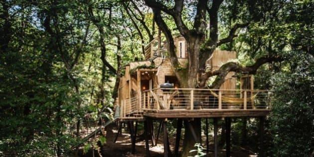 cette cabane dans les arbres de luxe va vous faire r ver. Black Bedroom Furniture Sets. Home Design Ideas
