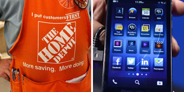 Blackberry Stock Price Drops As Home Depot Switches To Iphones