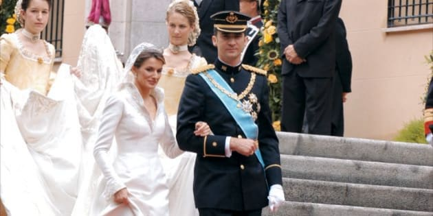 Cuello vestido novia letizia ortiz