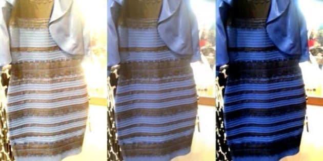 Mistero vestito bianco oro nero blu