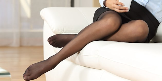 Ladies wearing only pantyhose