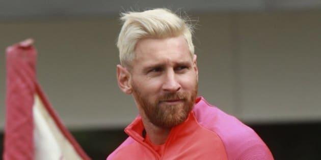 Messi peinado 2016