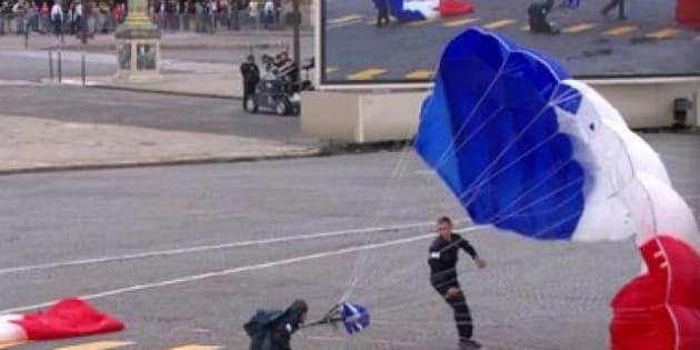 saut en parachute 14 juillet