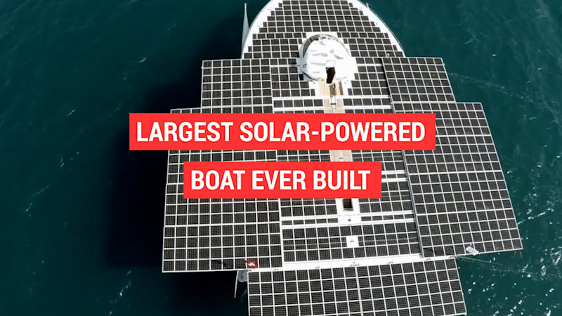 Largest solar-powered boat ever built