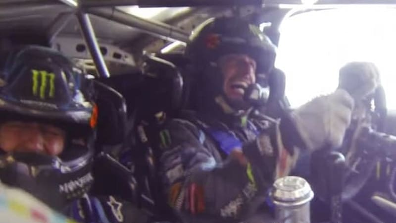 Watch Ken Block's scary Rally America crash from inside the cockpit