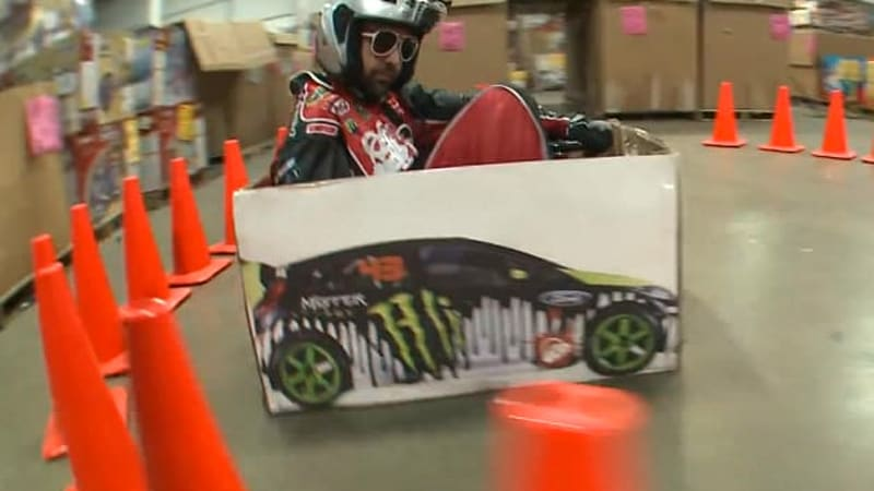 Ken Block's Gymkhana parodied by Ken Box and his Crazy Cart