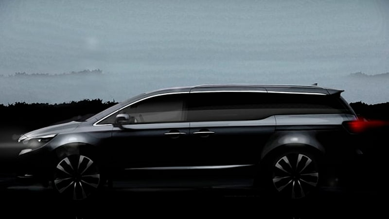 kia releases second sedona teaser ahead of new york debut autoblogkia has released a second teaser image of the next generation 2015 sedona minivan ahead of its debut at the new york auto show, and it doesn\u0027t leave much to