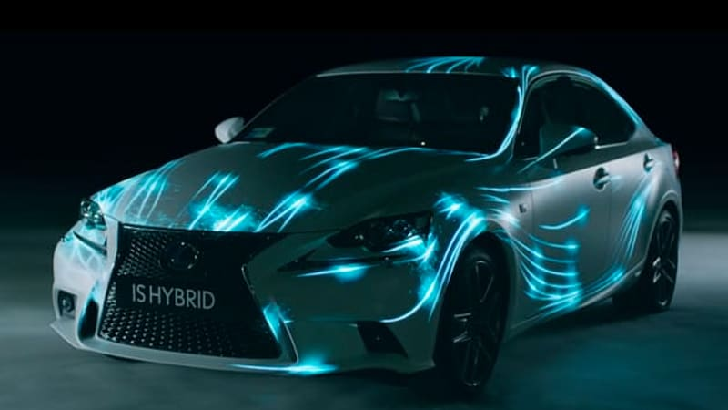 Great In Order To Promote Its New IS Hybrid, Lexus Borrowed An Airplane Hangar, A  Former Formula One Driver And What We Imagine Was Some Serious  Technological ...