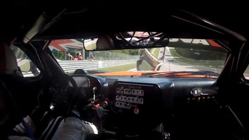 Ginetta racecar hit by flying door - Autoblog