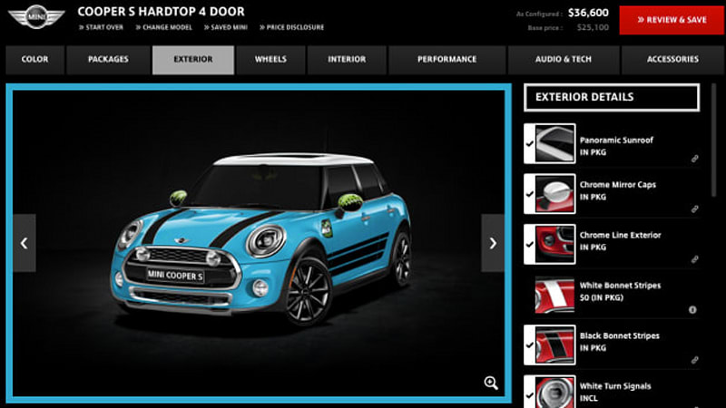 The Mini Cooper five-door hatchback which the company insists on calling the Mini Hardtop 4 Door doesn\u0027t start arriving at US dealers until January 2015.  sc 1 st  Autoblog & Mini Cooper Hardtop 4-Door configurator is open for all - Autoblog