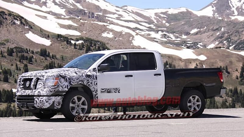 nissan titan 39 s upcoming cummins diesel originally meant for ram autoblog. Black Bedroom Furniture Sets. Home Design Ideas