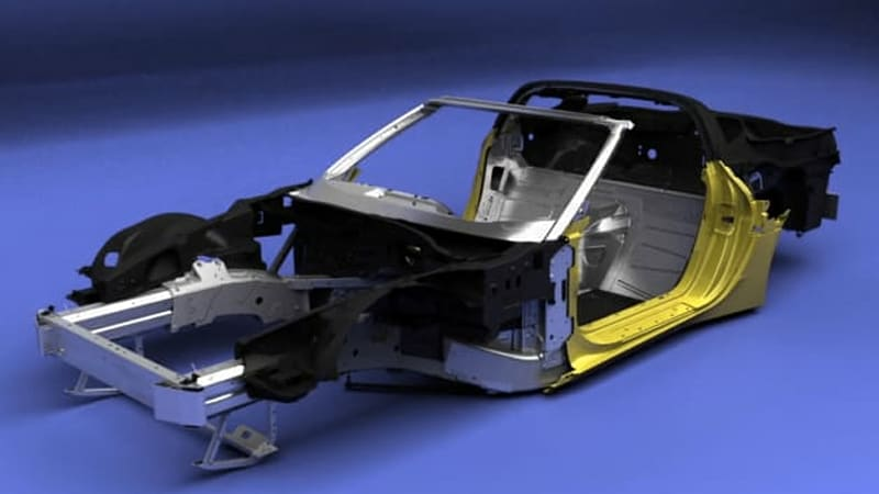 Watch a CG animation of the Corvette Stingray being assembled