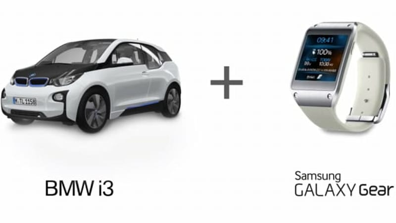 BMW and Samsung team up with Galaxy Gear smartwatch that talks to your i3