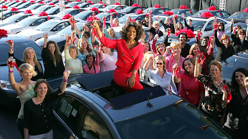 Image result for oprah car giveaway