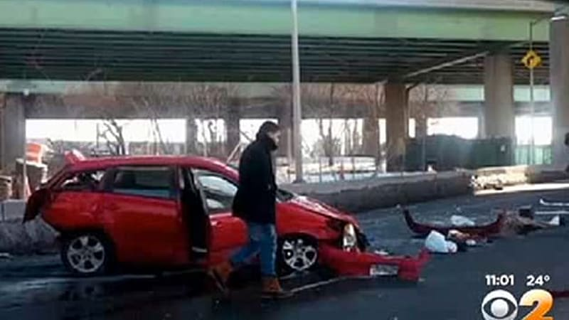 Couple survives 50-foot fall from overpass in Toyota | Autoblog