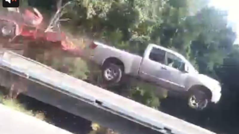 MI man injured in crazy Nissan Titan crash caught on video | Autoblog