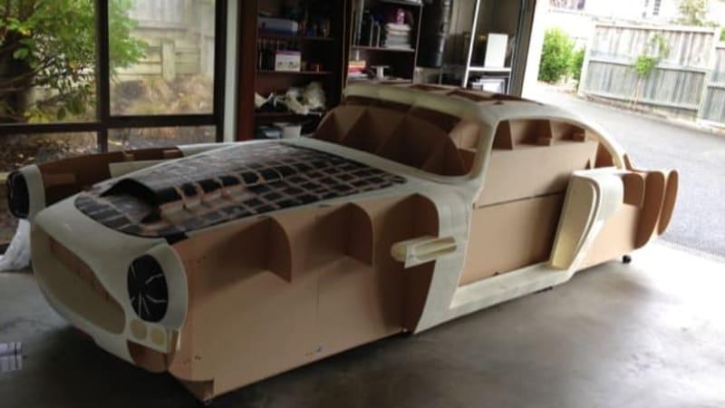 Man 3D-printing his own replica Aston Martin DB4