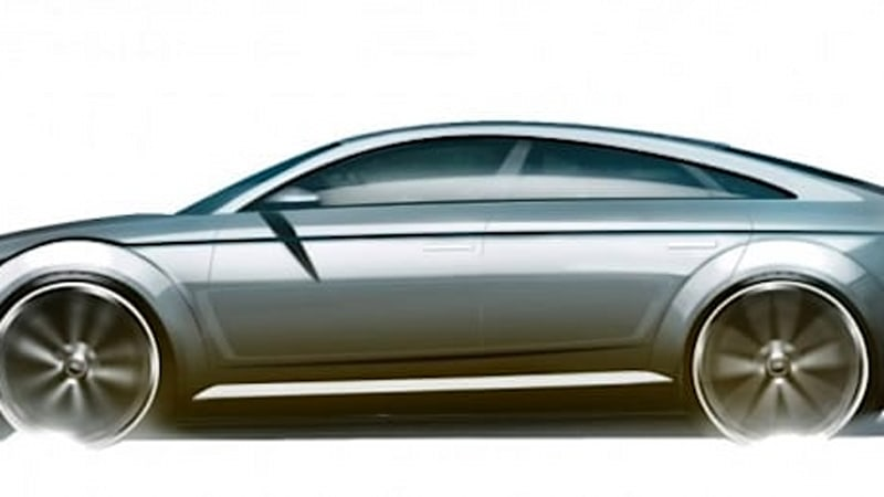 Leaked Design Sketch May Preview Audi TT Sportback Concept For - Audi recent model
