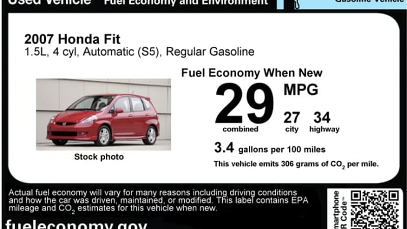 Epa Updates Mpg Sticker For Used Cars Autoblog
