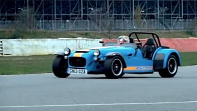 Caterham 620 R gets tossed around by F1 racer Kobayashi