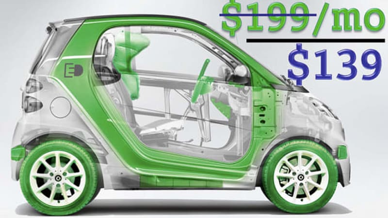 Smart Fortwo Ed Gets 139 Month Lease Ers Can Battery For 80