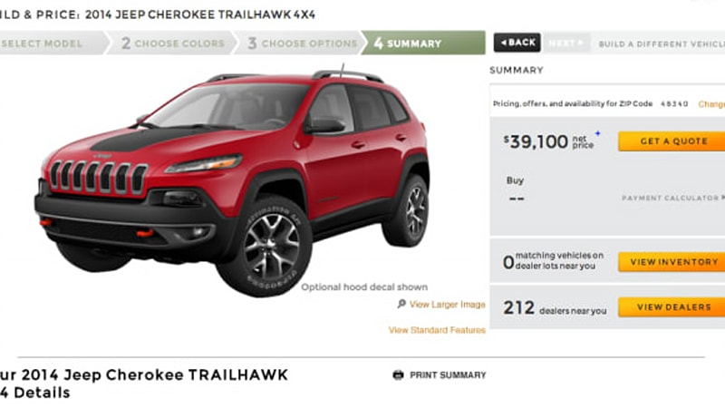 Production Delays Aside, Jeep Is Steaming Towards Its September On Sale  Date For The 2014 Cherokee. The Reborn Midsizeru0027s Configurator Has Just  Gone Live, ...