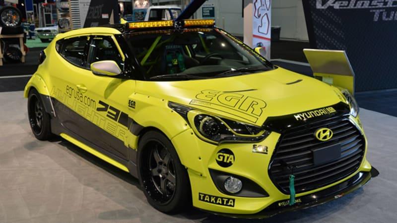 Hyundai Veloster Turbos strut their SEMA stuff   Autoblog