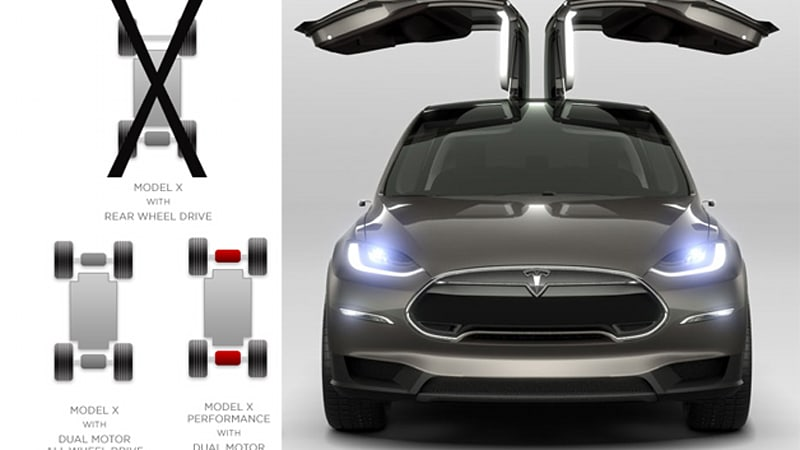 Tesla Model X will be AWD only, will cost 'slightly' more than Model ...