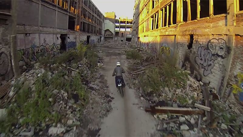 Watch this guy explore Detroit's abandoned Packard Plant on dirtbike