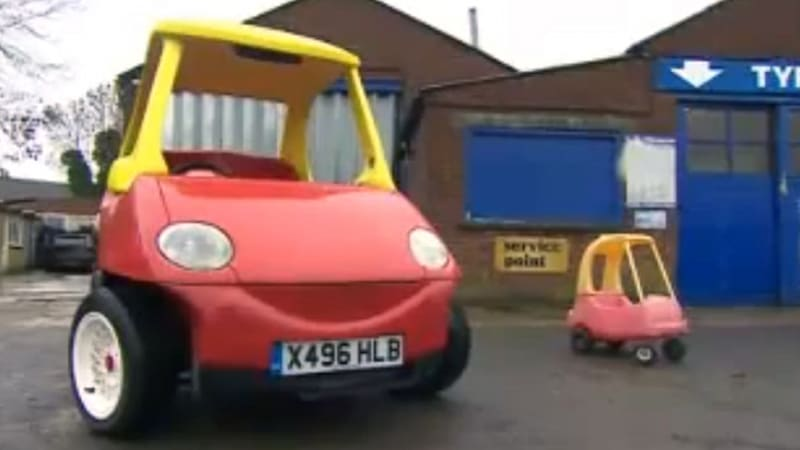 Grown up little tikes cozy coupe is your inner five year for Little tikes motorized vehicles
