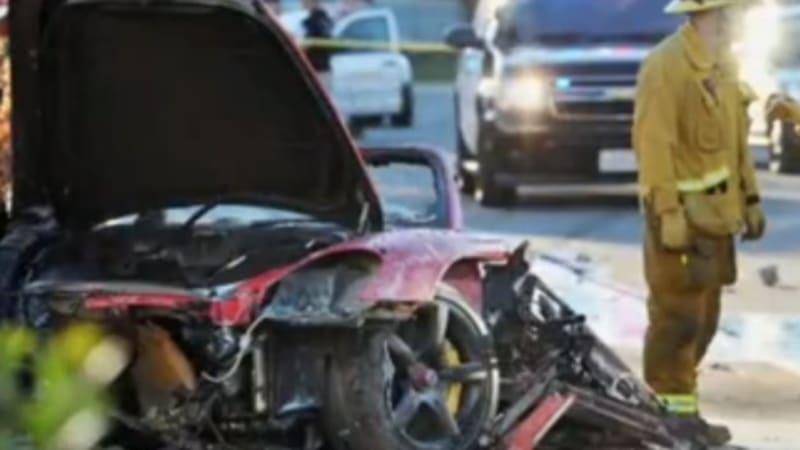 Man arrested for stealing part of Paul Walker Porsche wreck